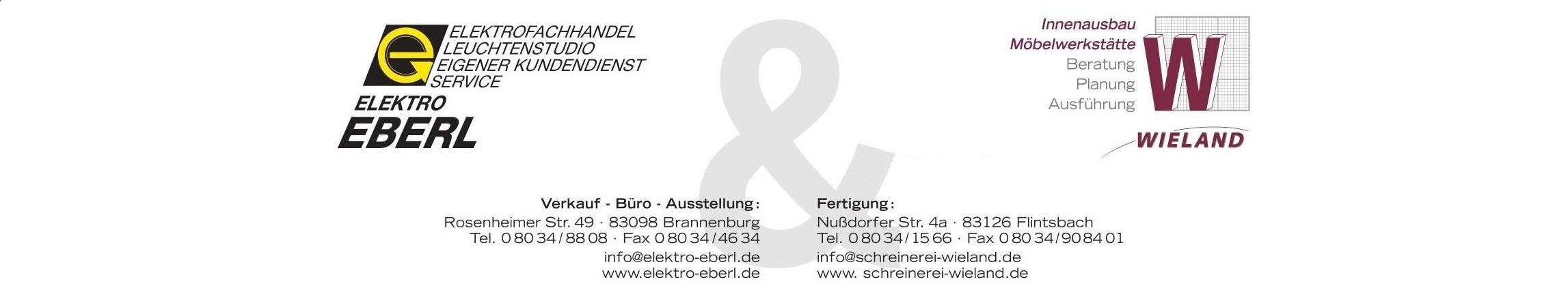 Elektro Eberl Schreinerei Wieland Brannenburg Flintsbach Ihre